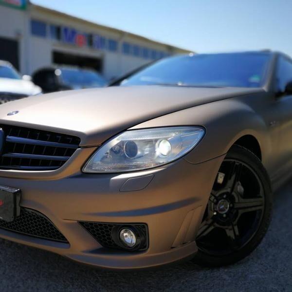 Mercedes autófóliázása bronzra